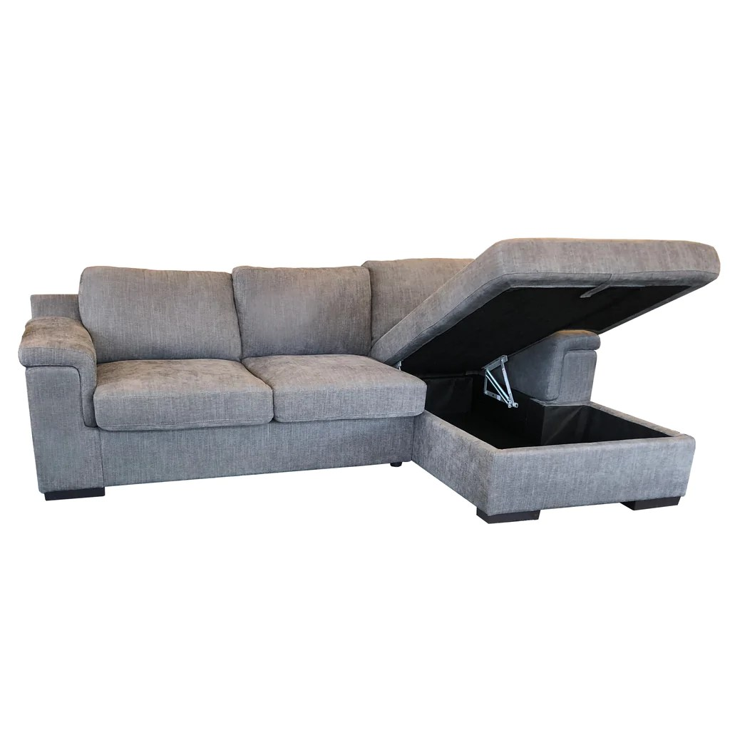 Sofas Online Valencia Valencia 2 5 Double Sofabed Lhf Storage Chaise Rhf Roma Sofa Fabric Istanbul Colour Dark Grey