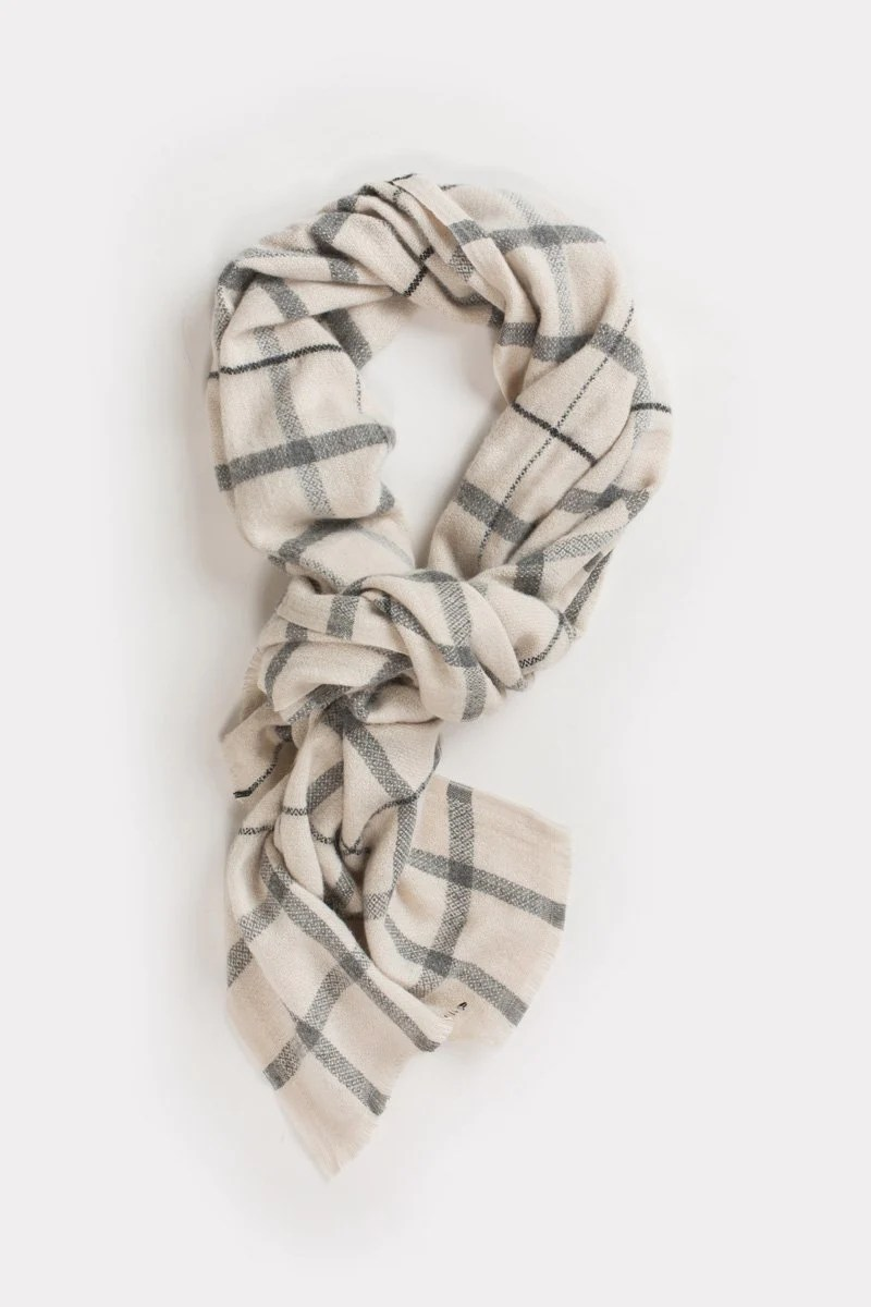 Plaid Taupe Laurel Taupe Plaid Scarf