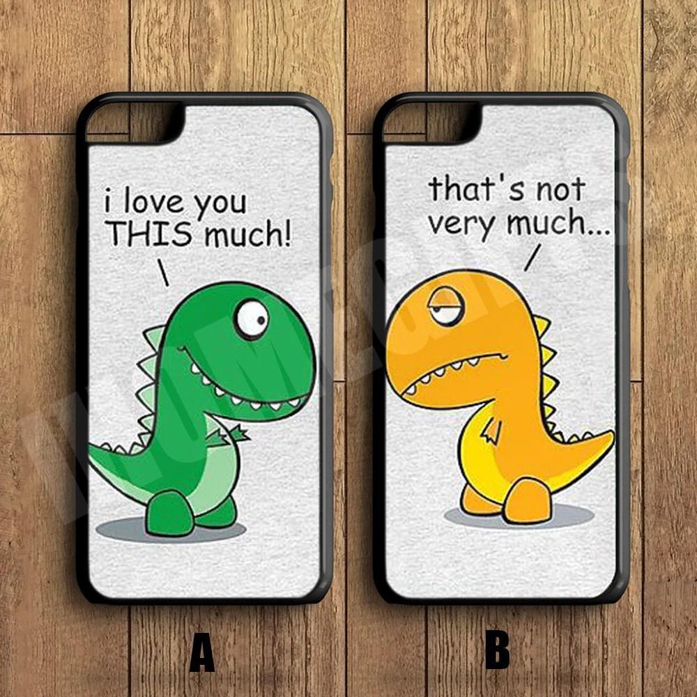 Cute Cartoon Dinosaur Samsung Wallpaper Couple Phone Case For Iphone 6 Plus 6 5 5s 5c 4s 4
