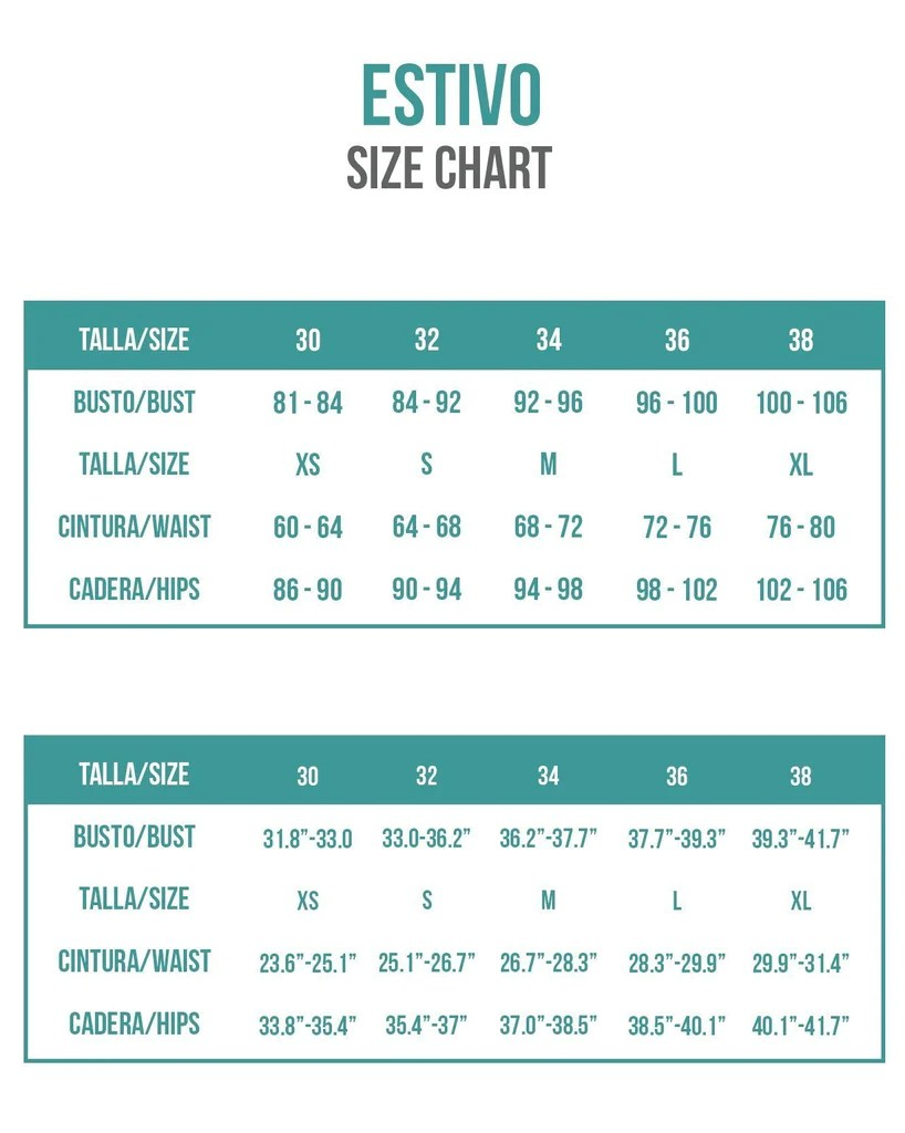 Size M Size Charts Bikini Sizing Information And Helpful Guide