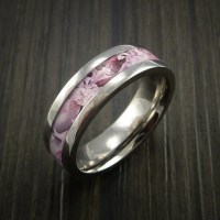 King's Camo PINK SHADOW and Titanium Ring Camo Style Band ...