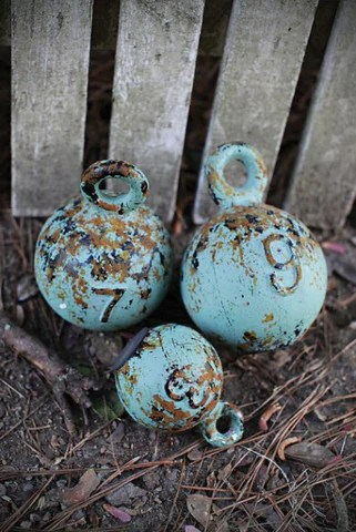 Rustic Decorative Nautical Weights Set Coastal Style Gifts