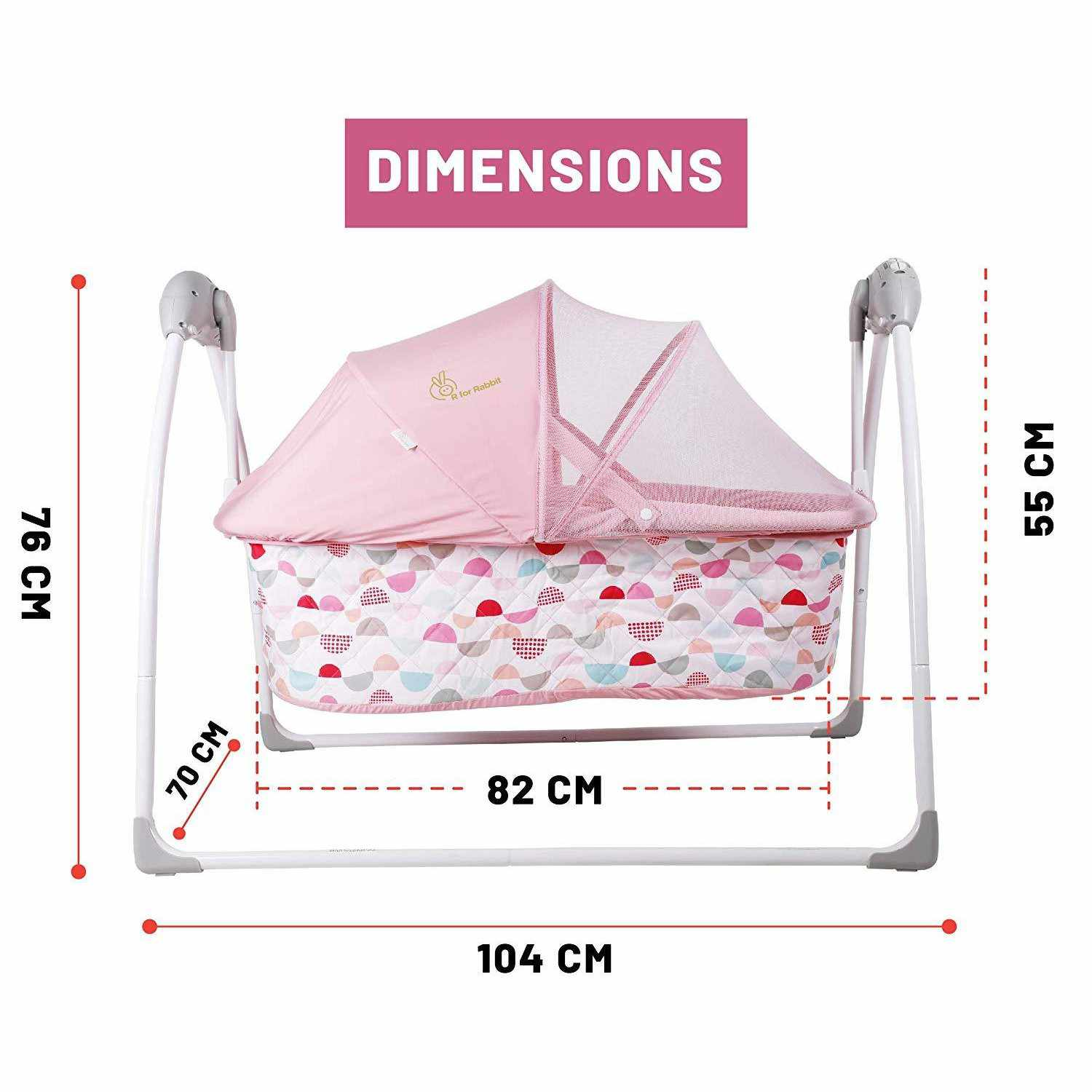 Baby Cradle Dimensions R For Rabbit Lullabies The Auto Swing Baby Cradle