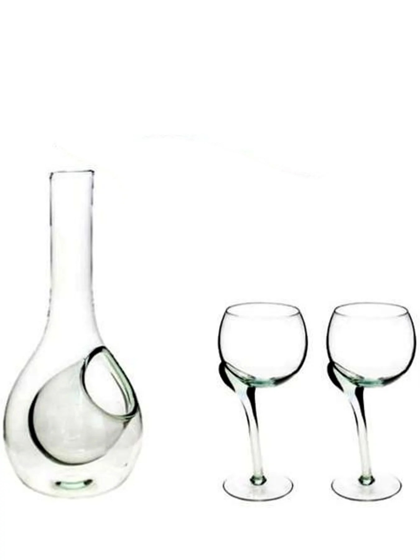 Decanter Wine Glas Wine Glass Decanter Set Recycled Glass