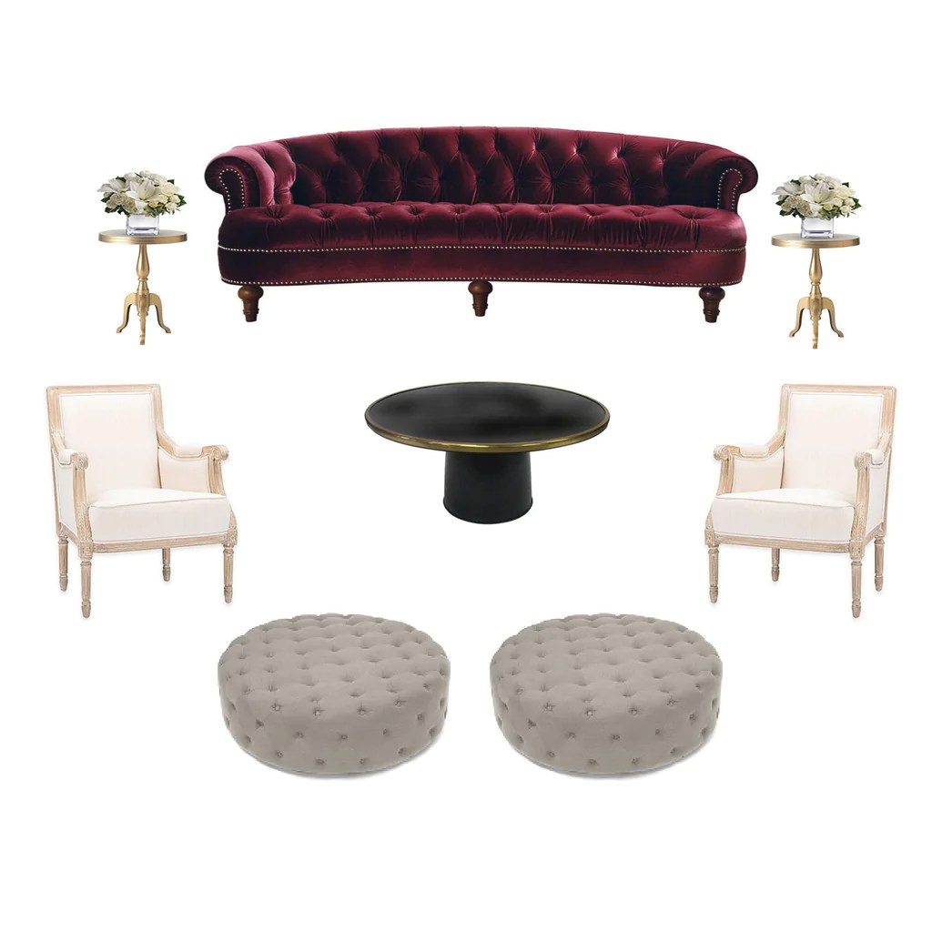Rosa Sofa Rosa Luxe Sofa Rental In New York Two Of A Kind Furniture Rentals