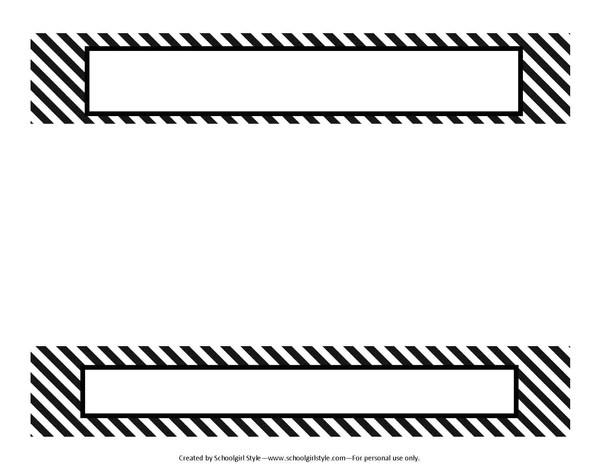 "binder spines - Josemulinohouse - 1"" binder spine template"