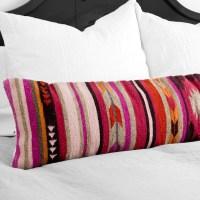 Lumbar Decorative Pillow | Colorful Geometric Pattern ...