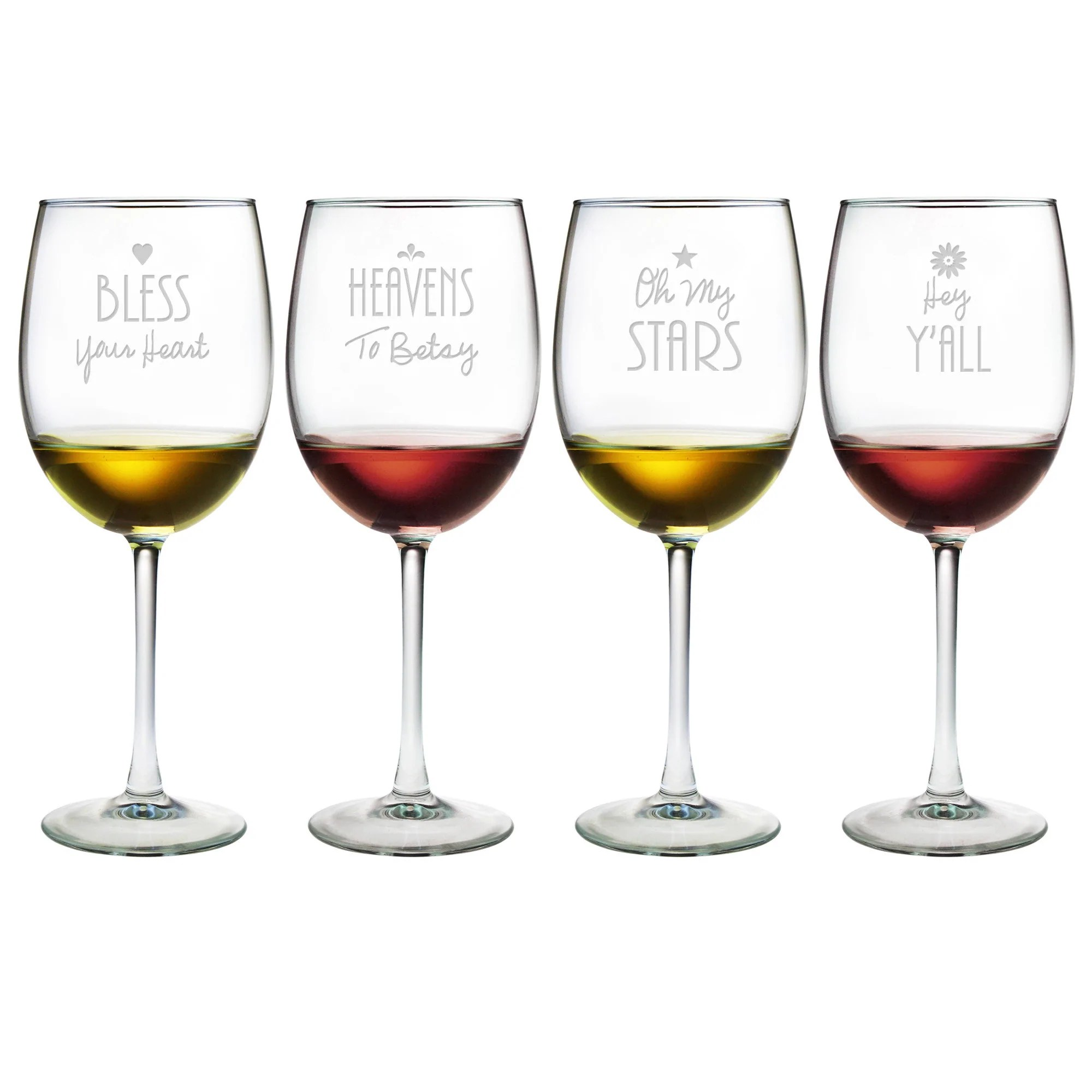 Cute Glassware Southern Sayings Wine Glasses