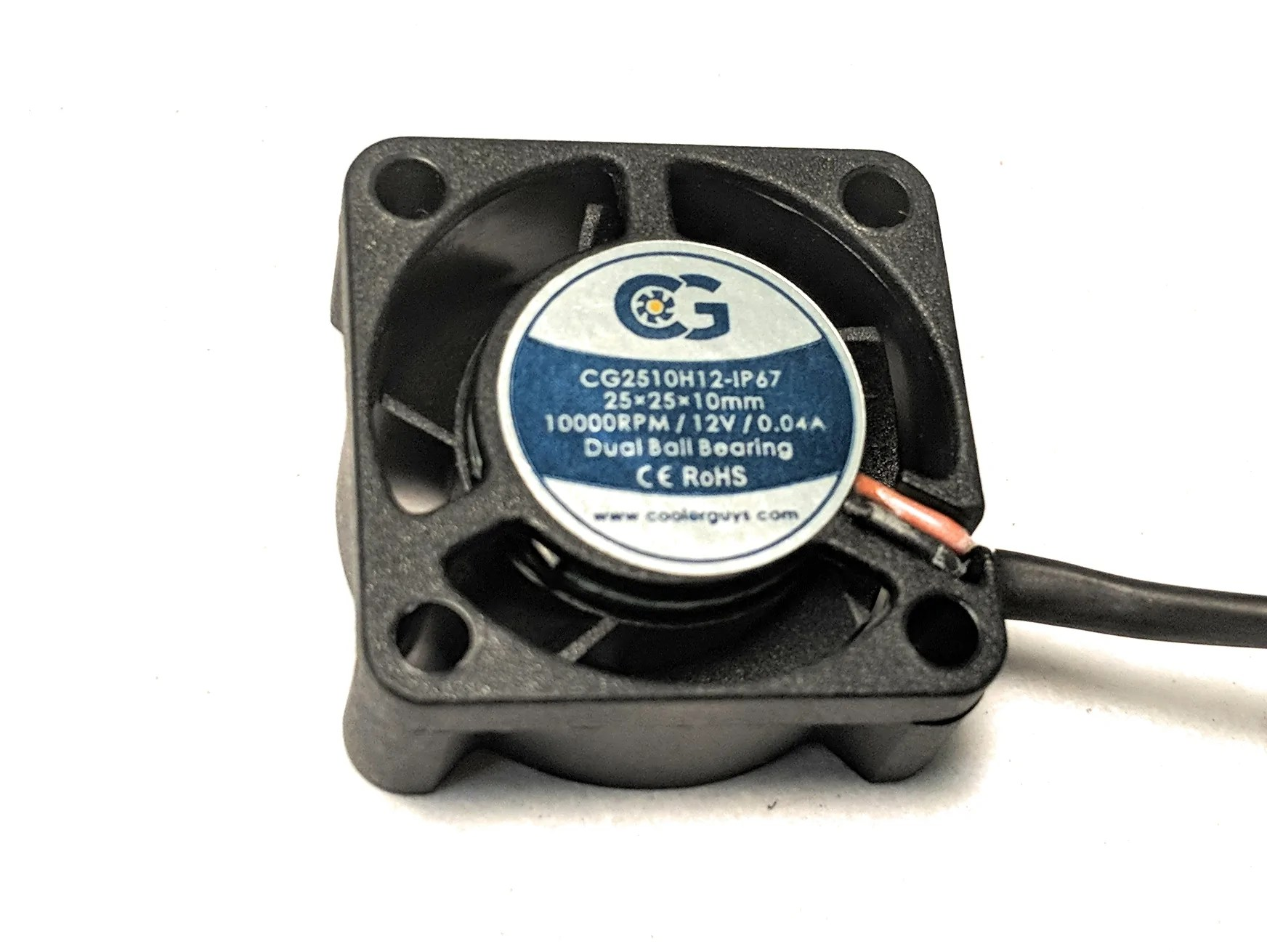 12v Ip67 Coolerguys 25mm 25x25x10 Ip67 12v Fan
