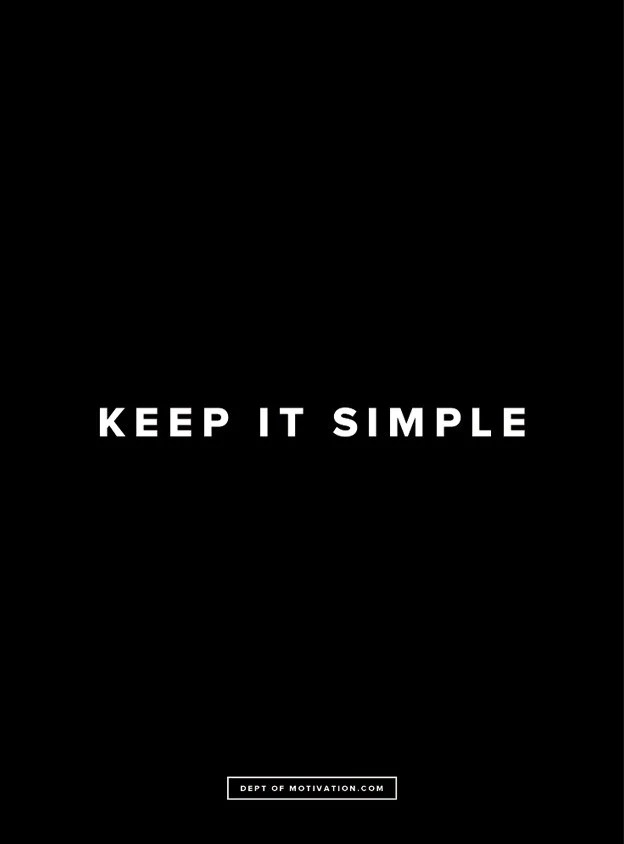 Love Quote Images Wallpaper Quot Keep It Simple Quot Poster Dept Of Motivation