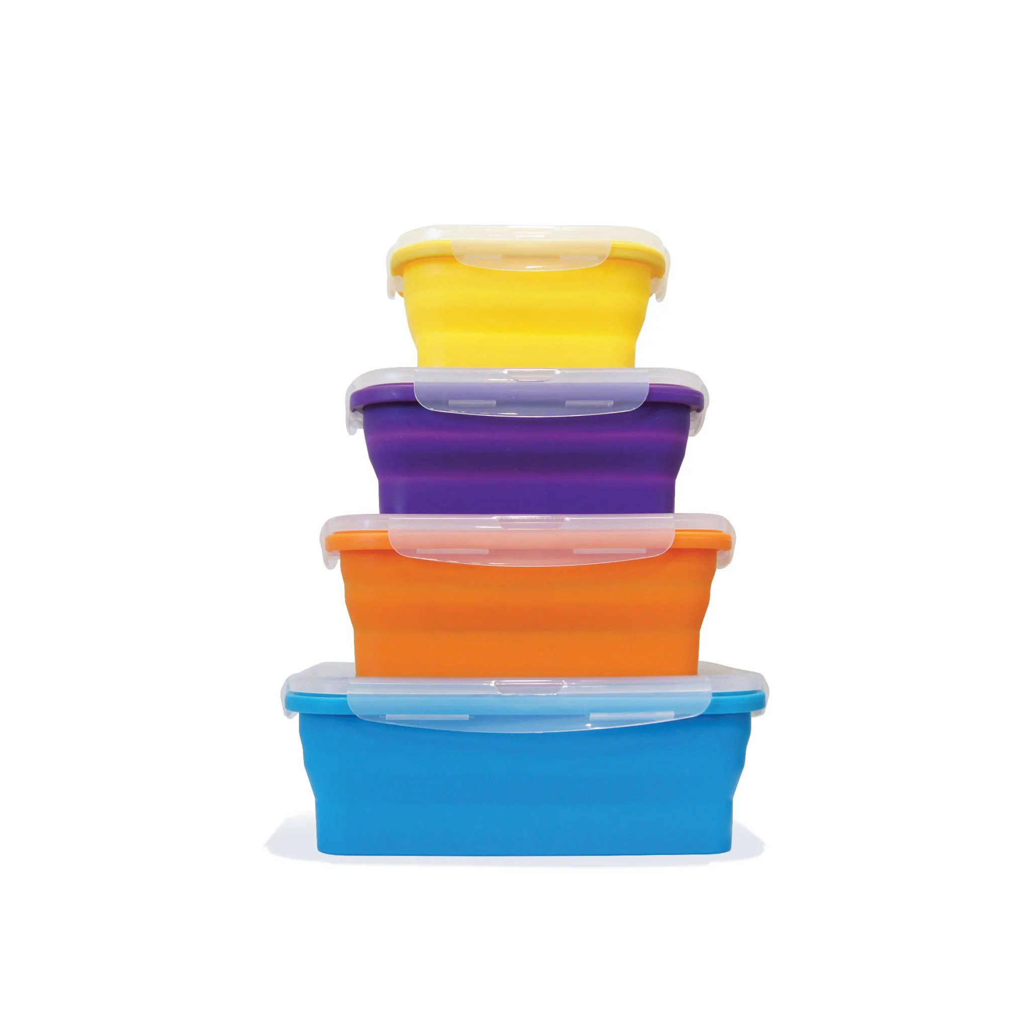 Flat Stacks 4 Pc Rectangle Container Set Ocean Sales Usa
