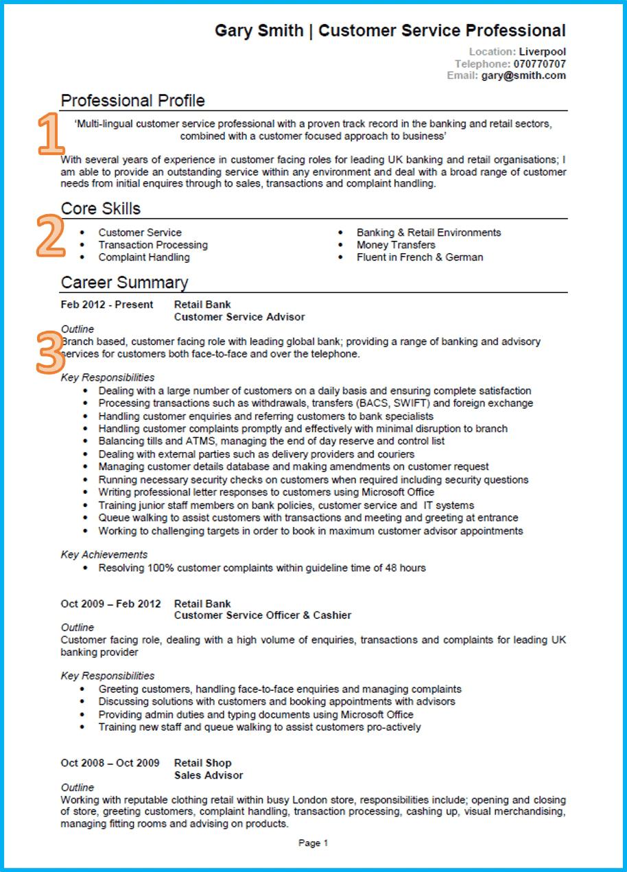 retail responsibilities resume - Fieldstation.co