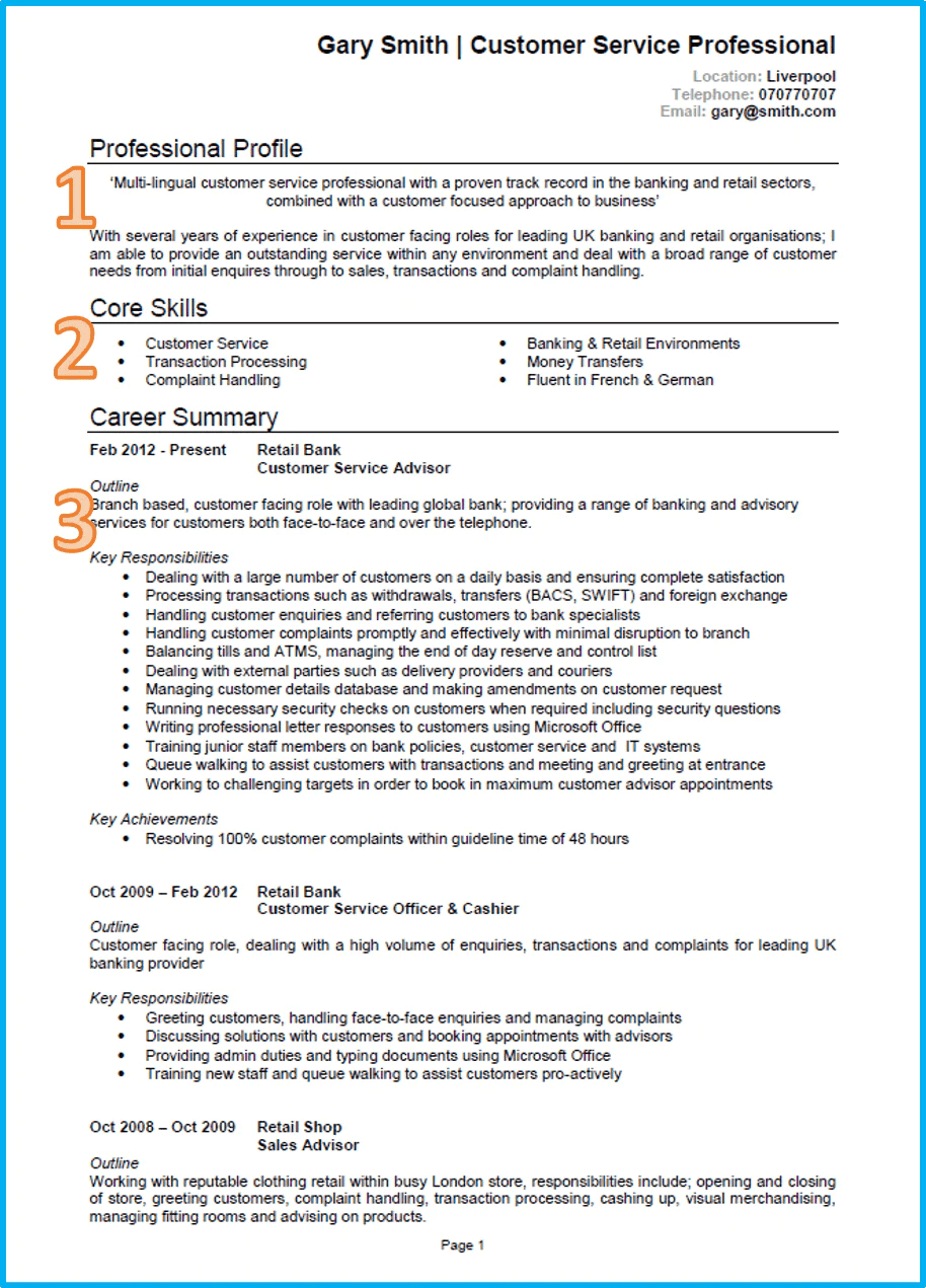 writing a successful cv template