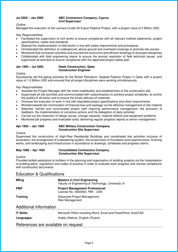 sample referenes page resume