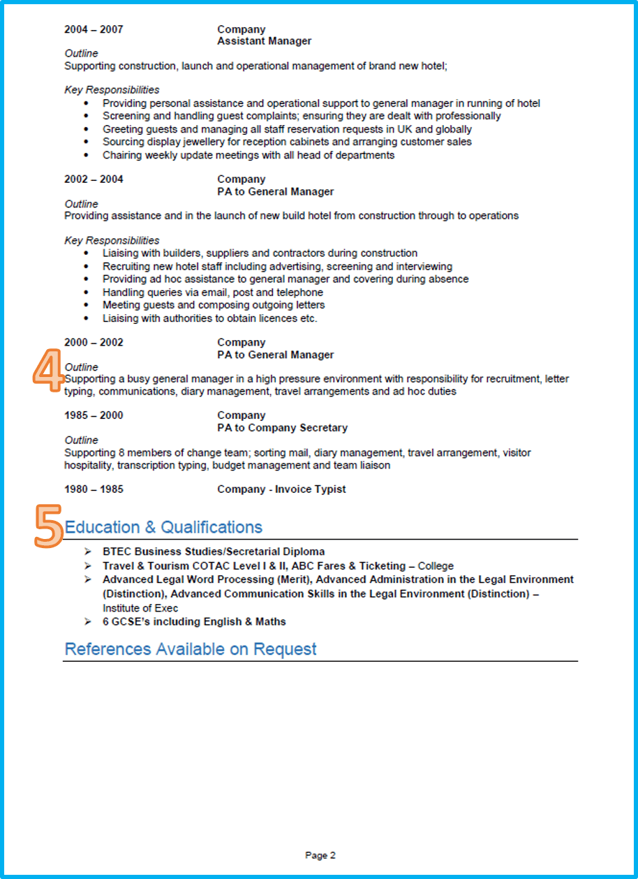 british manager cv examples
