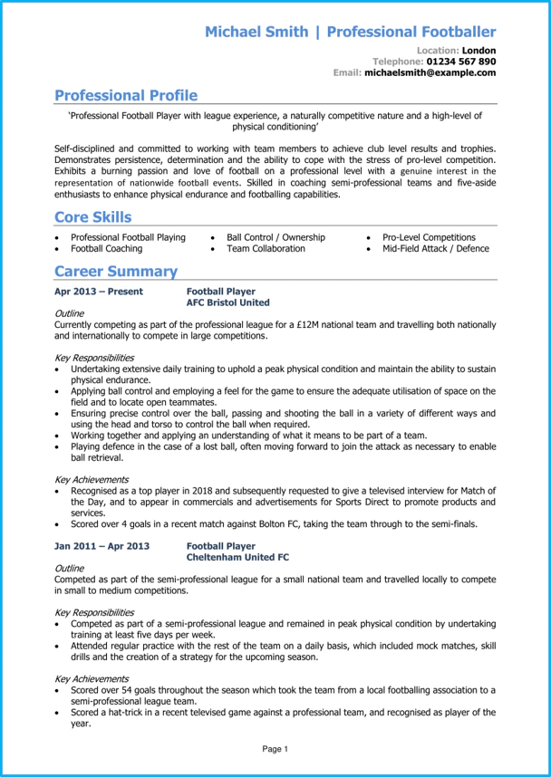 writing cv english