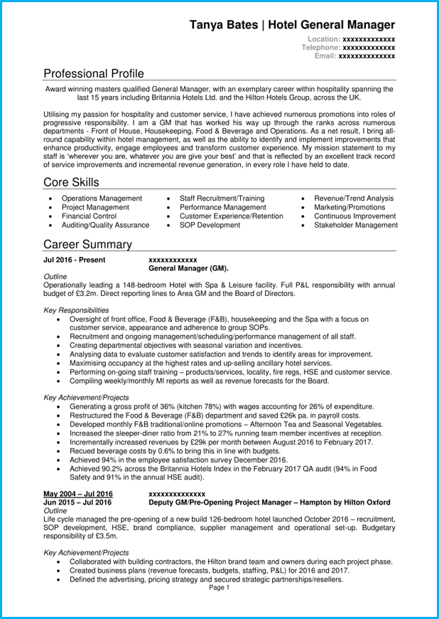 cv quality manager english