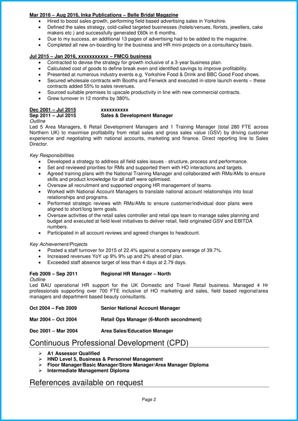 graduate cv example business