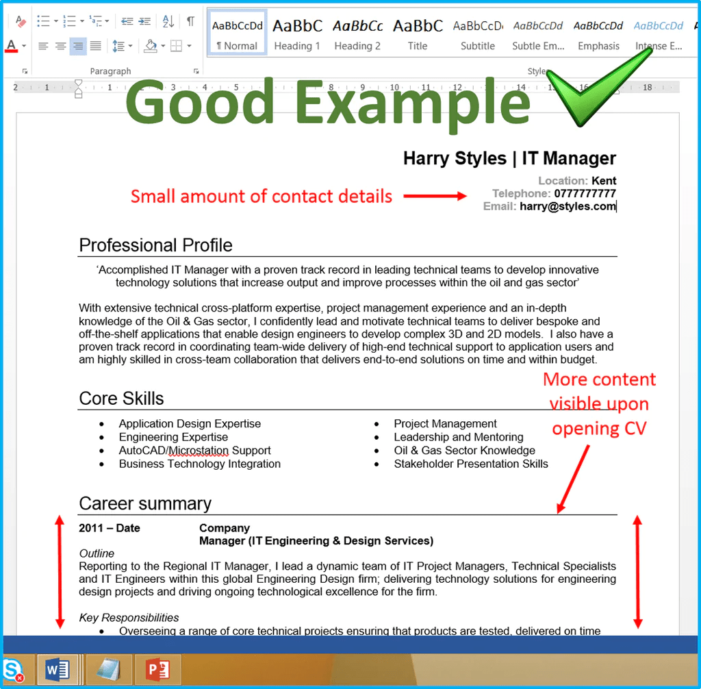 cv font font size for cv uk good cv examples how to write a good ...