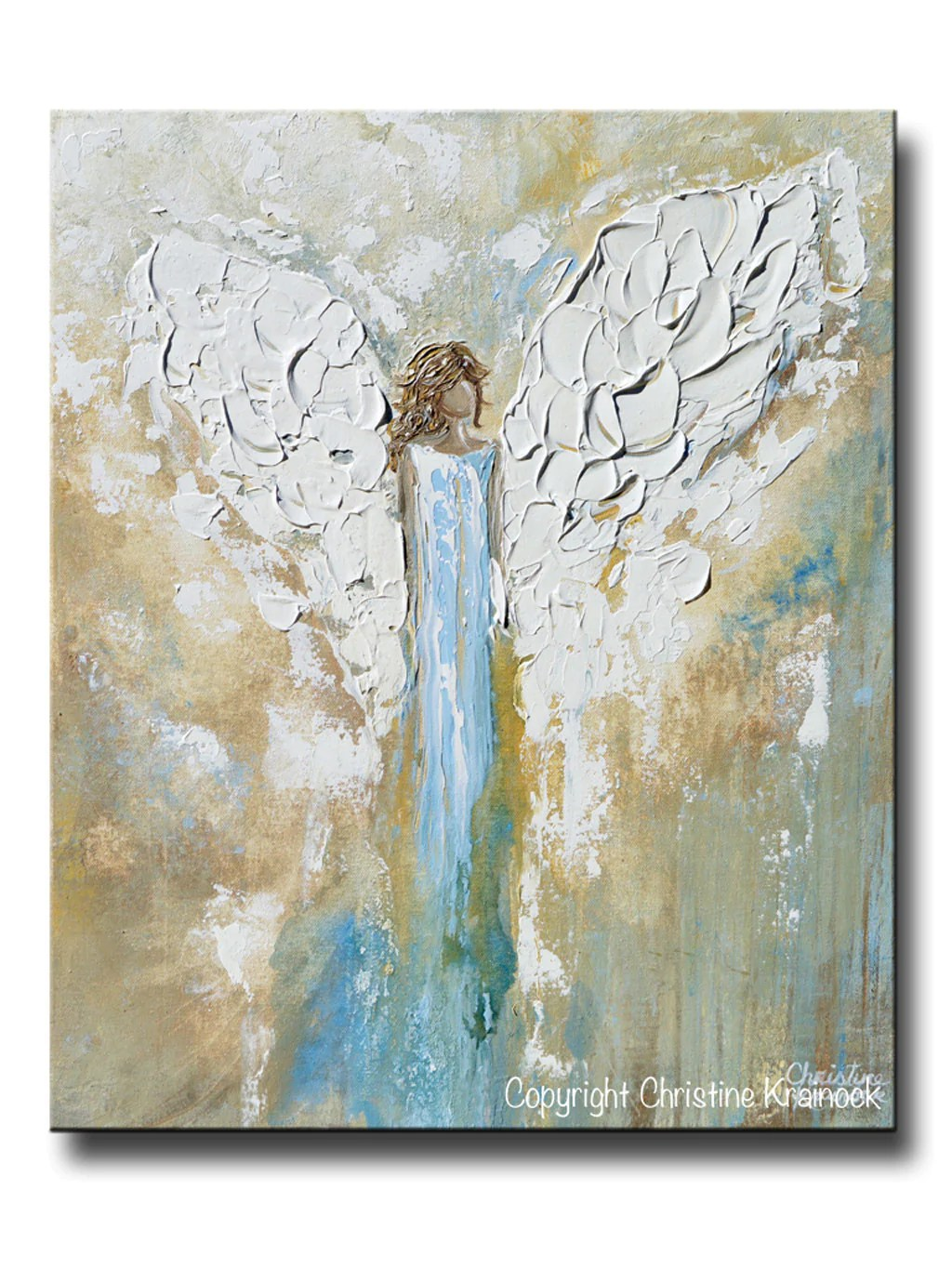 Wandbild Küchenmotiv Original Angel Painting Abstract Guardian Angel