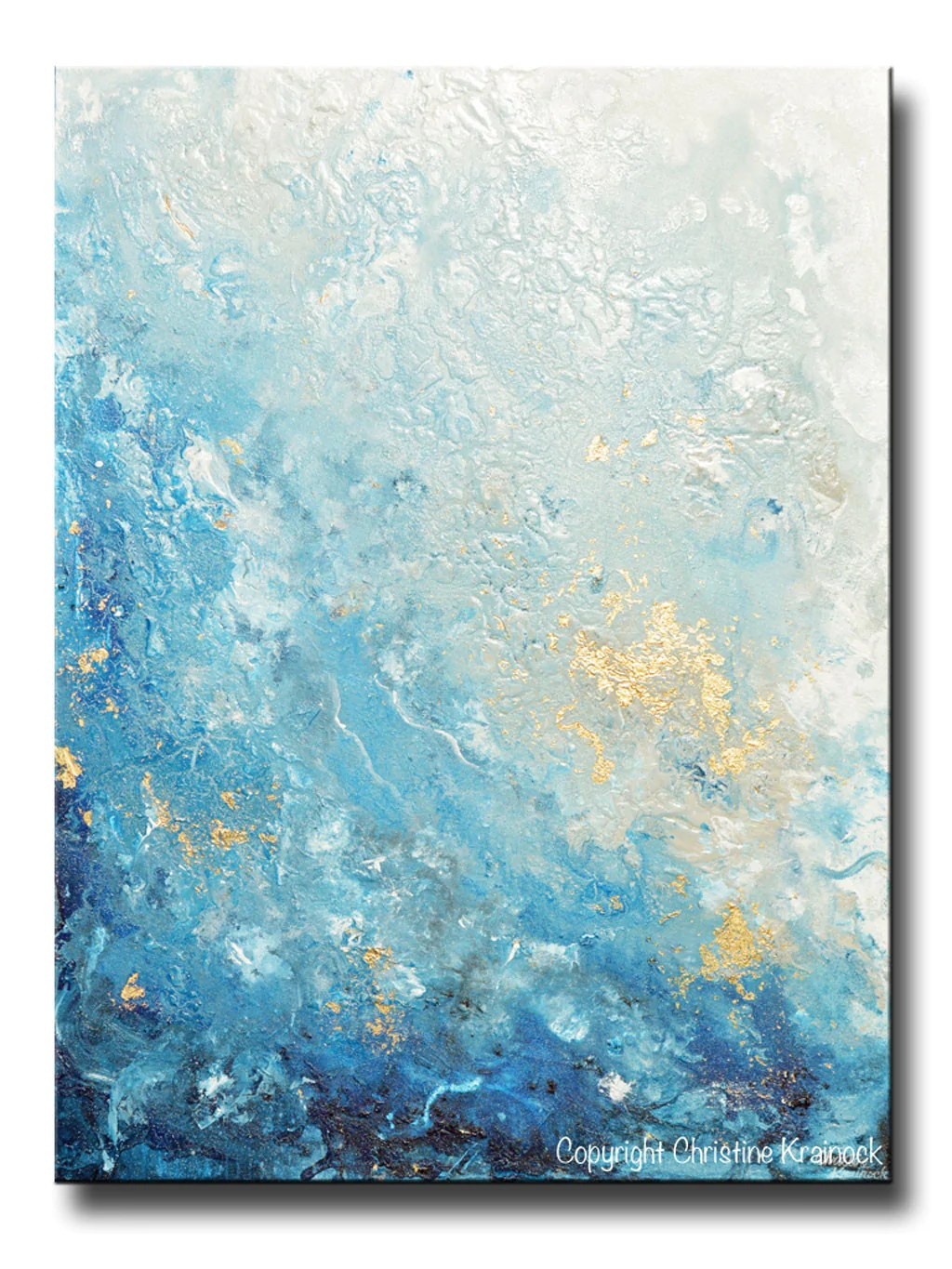 Abstract Art Prints On Canvas Giclee Print Art Abstract Painting Ocean Blue White Seascape Coastal Large Canvas Prints Wall Art