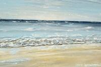 ORIGINAL Art Abstract Seascape Painting Beach Ocean Blue ...