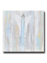 GICLEE PRINT Abstract Art Blue Angel Painting~ Joyful ...