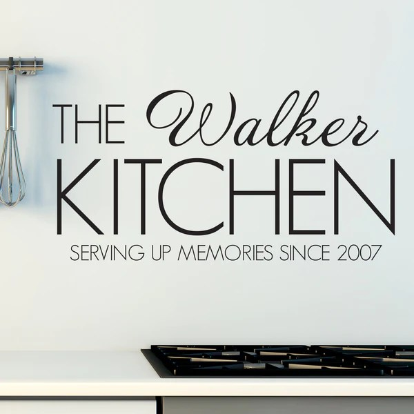 personalised family kitchen wall sticker wallstickers uk room bathroom wall stickers personalised wall sticker custom text