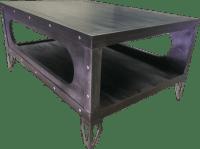 #029 - Industrial Gun Metal Coffee Table  Industrial ...