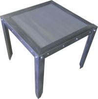 #033 - Vintage Industrial Weathered Side Table ...