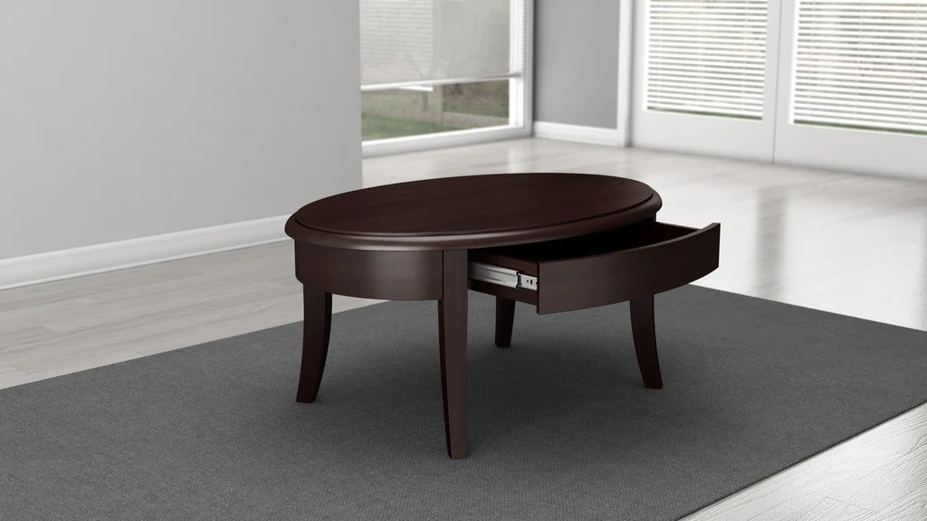 Brazilian Cherry Coffee Table In A Wenge Finish Furnitech