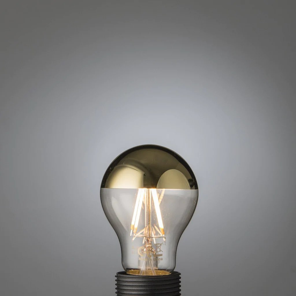 Led E27 Spiegelkopf Led Filament Gold Top Bulb E27 Edisson