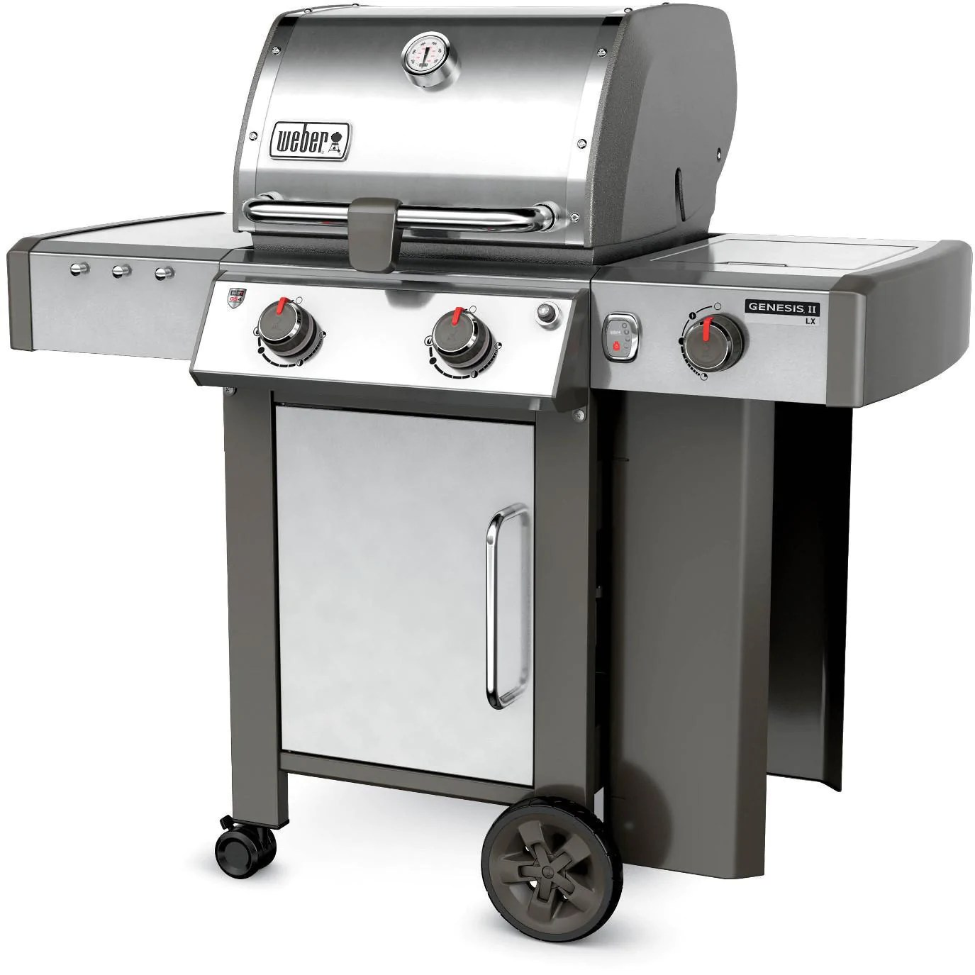 Bbq Weber Genesis Weber Genesis Ii Lx S 240 Gas Grill With Side Burner Stainless
