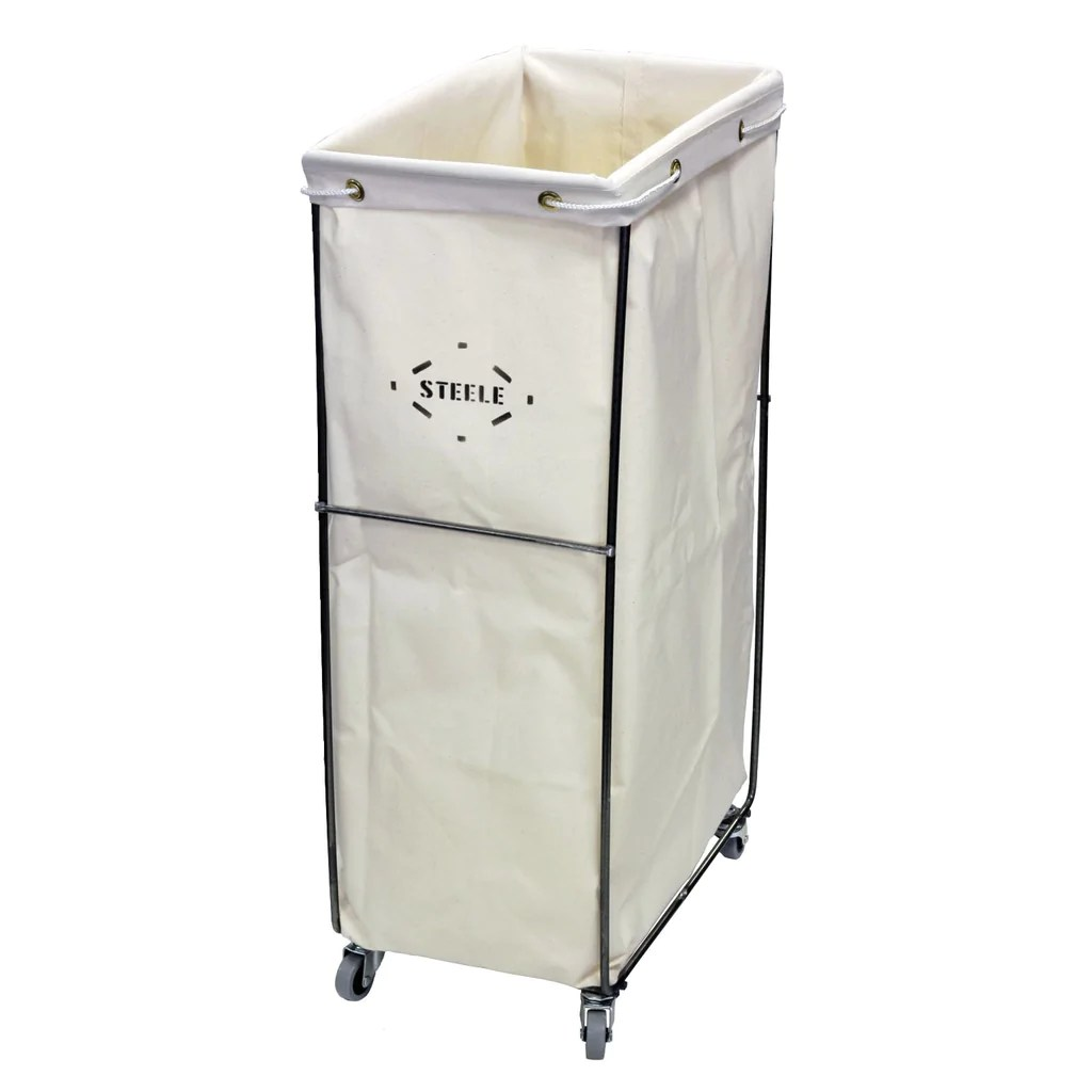 Small Canvas Laundry Bag Small Bag Caddie Casters Steele Canvas Basket Corp