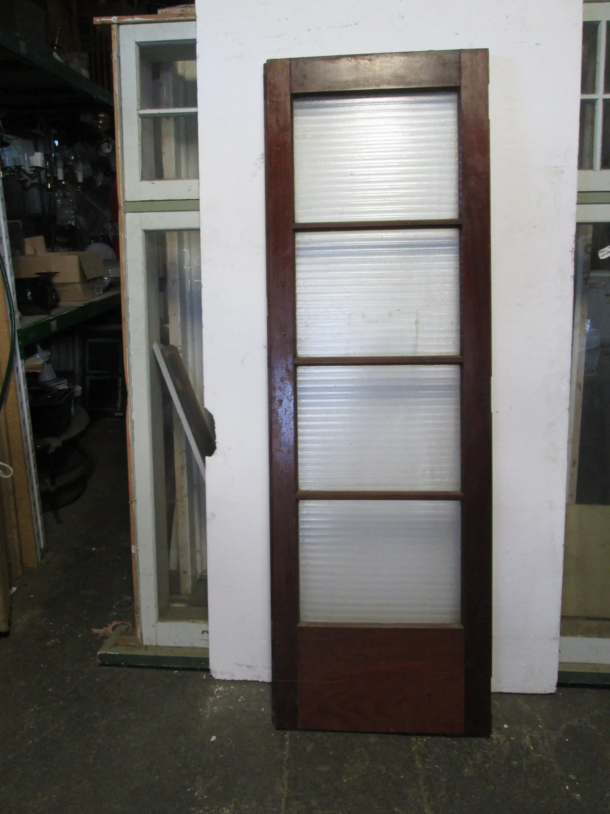 Timber Glass Doors Internal Native Timber French Doors 4 Lite With Ribbed Glass 1970h