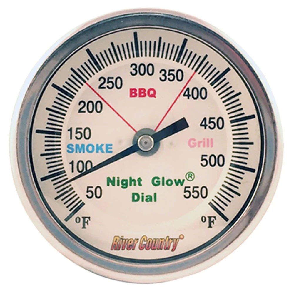 Thermometer Australia Bbq Thermometer River Country Nite Glow 3in Dial 2 5in Stem Lrg Mount
