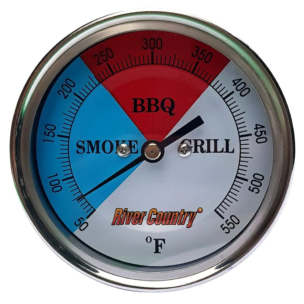 Thermometer Australia Bbq Thermometer River Country Red Blue 5in Dial 5 0in Stem Lrg Mount