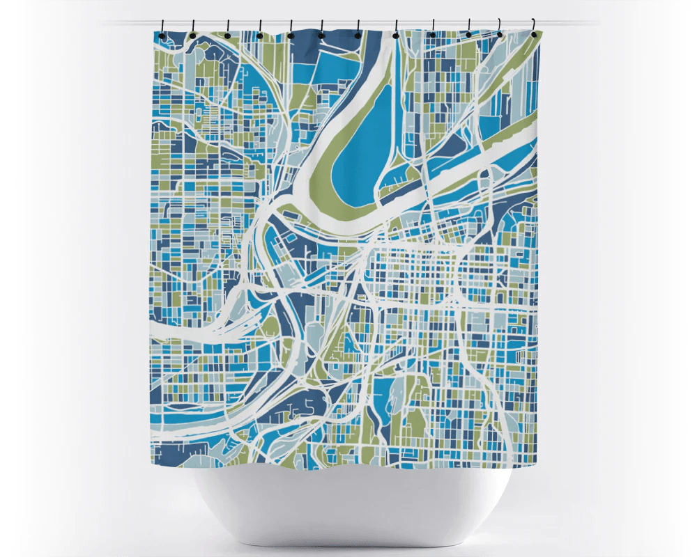 Usa Shower Curtain Kansas City Map Shower Curtain Usa Shower Curtain Chroma Series