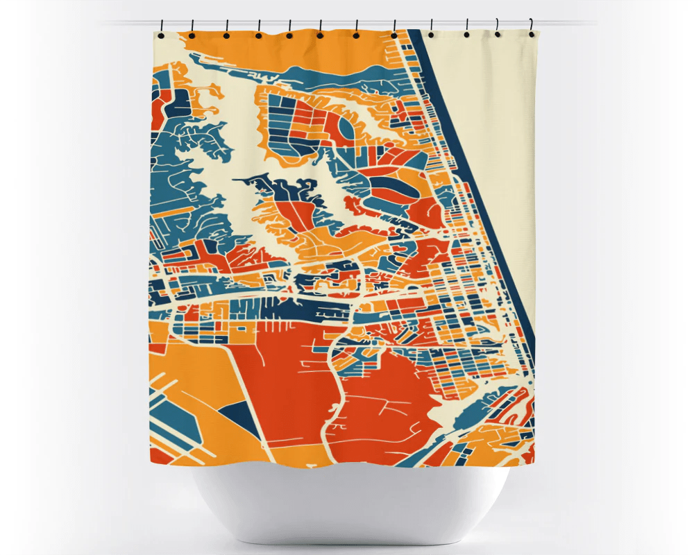 Usa Shower Curtain Virginia Beach Map Shower Curtain Usa Shower Curtain Chroma Series