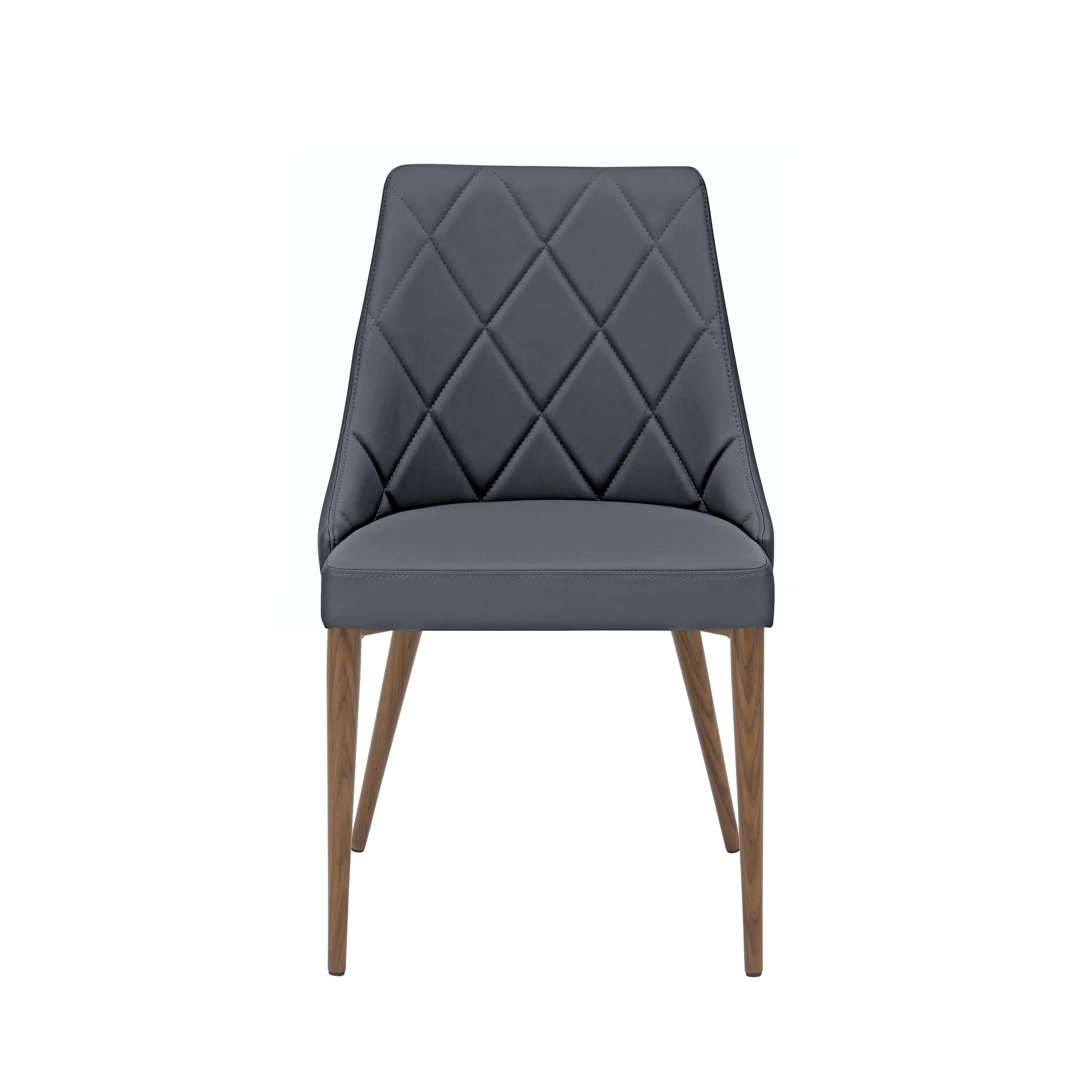 Set Of 2 Gray Patterned Leather Guest Chairs Computerdesk Com