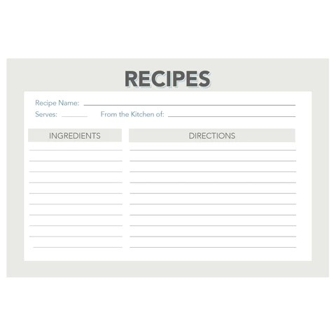 vintage recipe card templates - Minimfagency - black and white recipe card template