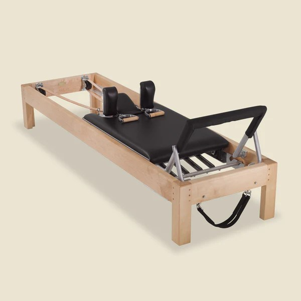 "Dusty Rose 86"" Designer Reformer In Maple Wood - Gratz™ Pilates"