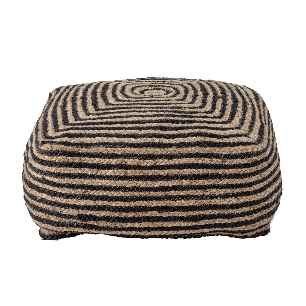 Black Neutral Jute Outdoor Cushion Stool The A B Boho Collection Ashton And Barrow