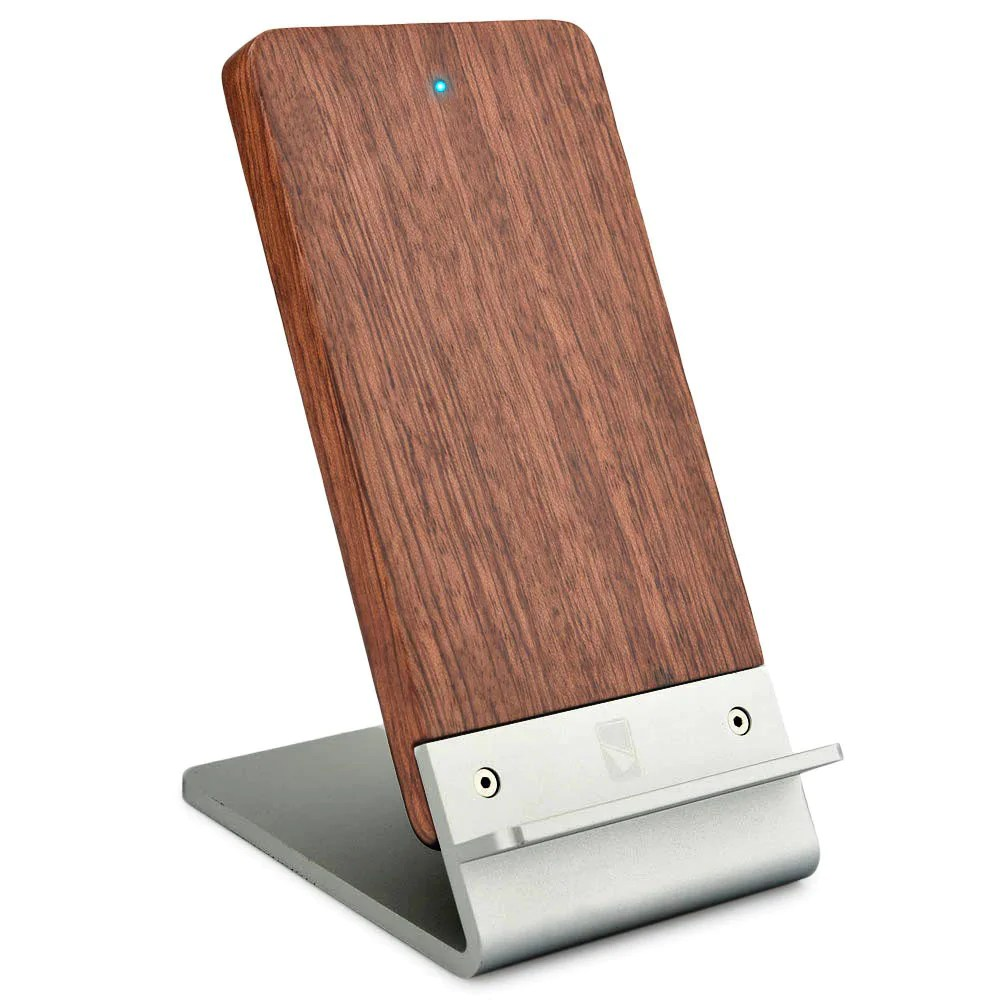 Handy Qi Cooper Ecostand Wood Qi 3 Coil Wireless Charging Stand For Smartphones