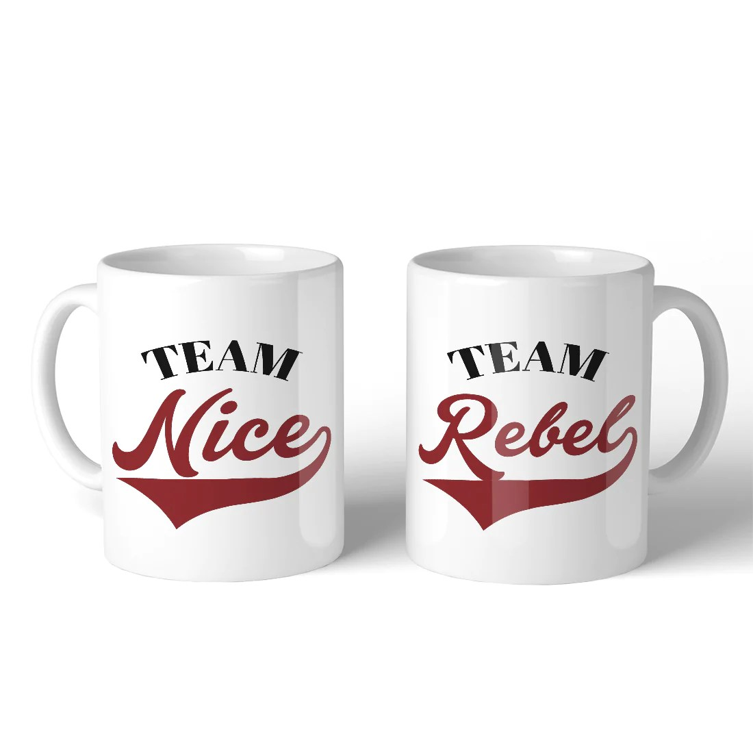 Where To Buy Nice Coffee Mugs Team Nice Team Rebel Bff Matching Gift Ceramic Coffee Mugs 11oz
