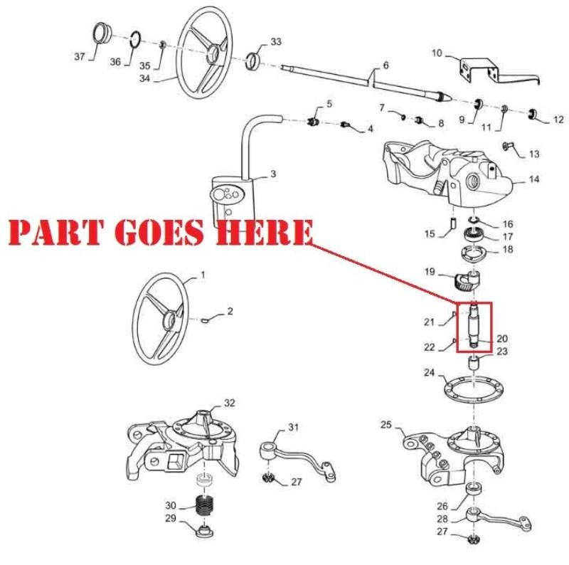 farmall m rear axle parts diagram