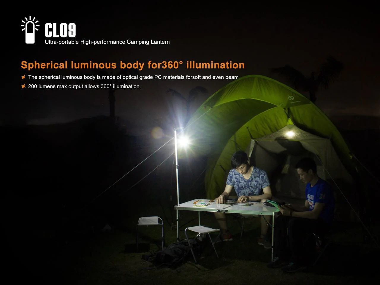 200 Lumen Fenix Cl09 Led Camping Light 200 Lumens