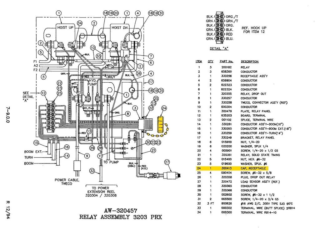 auto crane 2703 wiring diagram