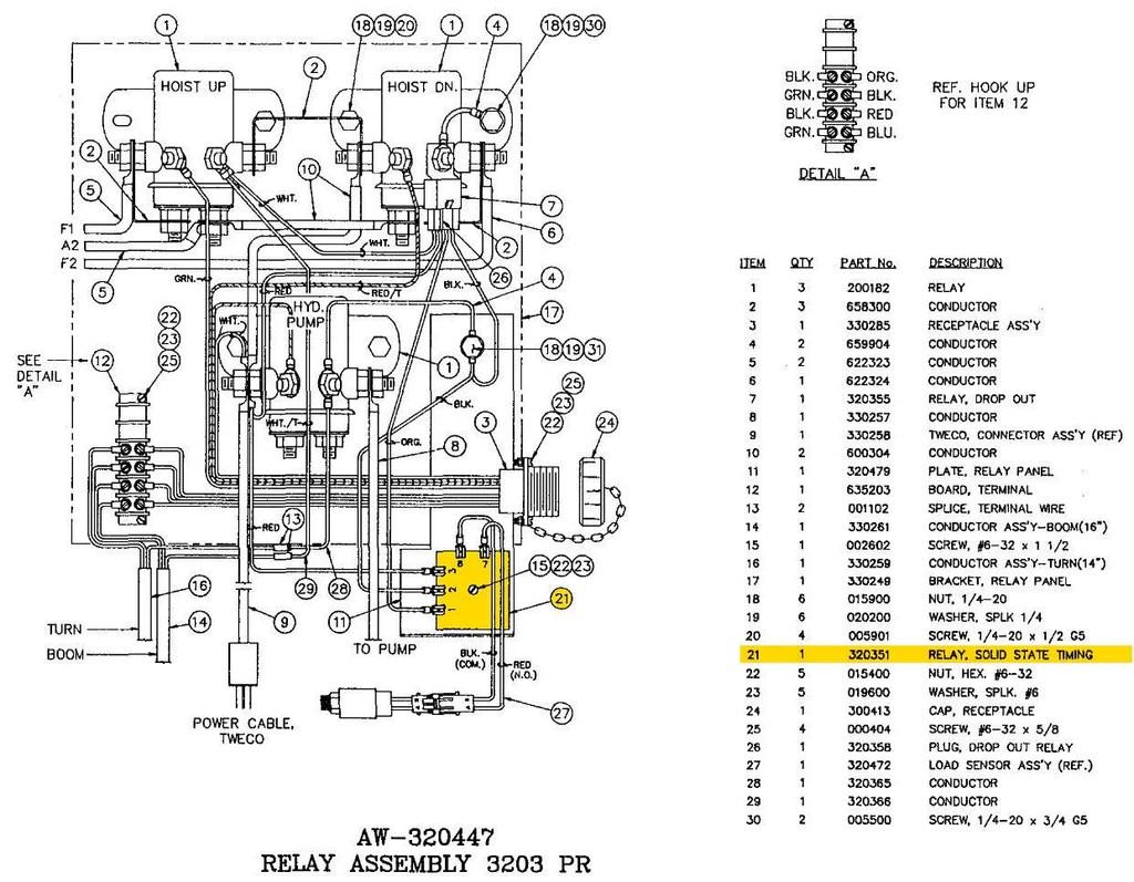 auto crane parts diagram