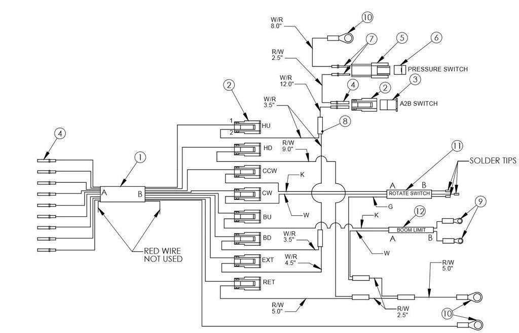 truck crane wiring diagram